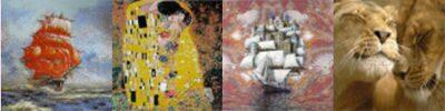 Панно из матричной мозаики