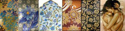 Панно художественное из колотой мозаики